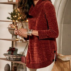 NEW Soft Surroundings Chiara Chenille Sweater